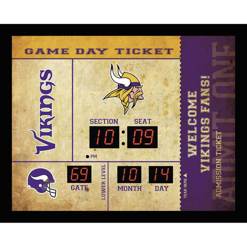7CL3817: EG BT SB Wall Clock, Minnesota Vikings