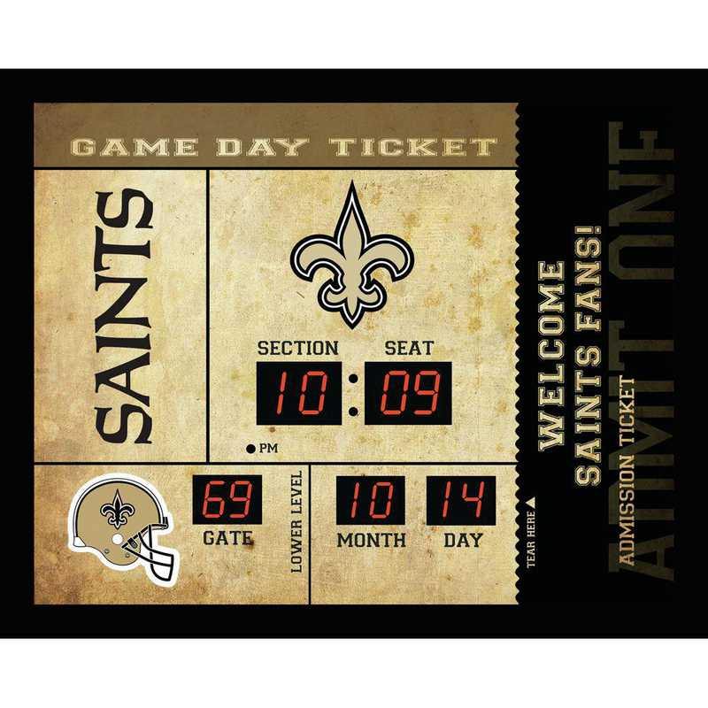 7CL3819: EG BT SB Wall Clock, New Orleans Saints