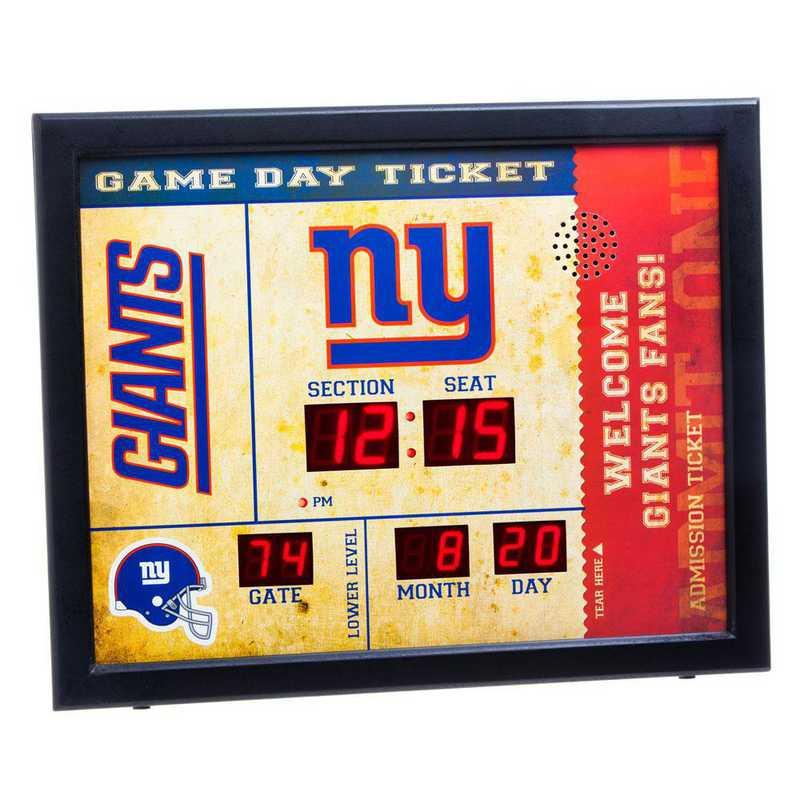 7CL3820: EG BT SB Wall Clock, New York Giants