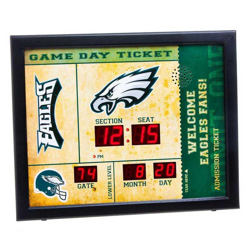 7CL3823: EG BT SB Wall Clock, Philadelphia Eagles