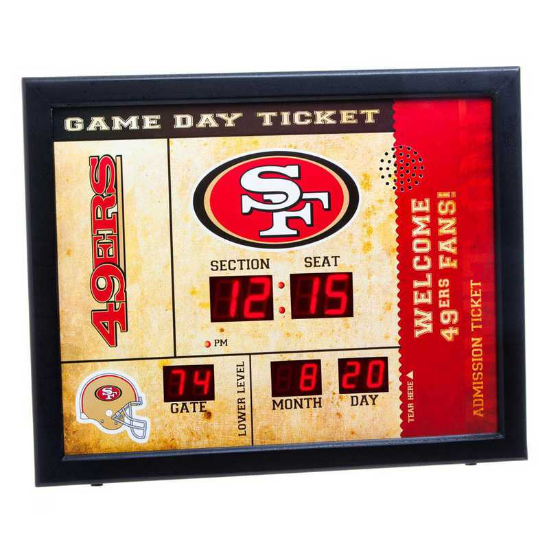 7CL3826: EG BT SB Wall Clock, San Francisco 49ers