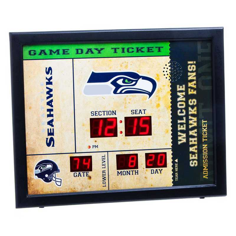 7CL3827: EG BT SB Wall Clock, Seattle Seahawks
