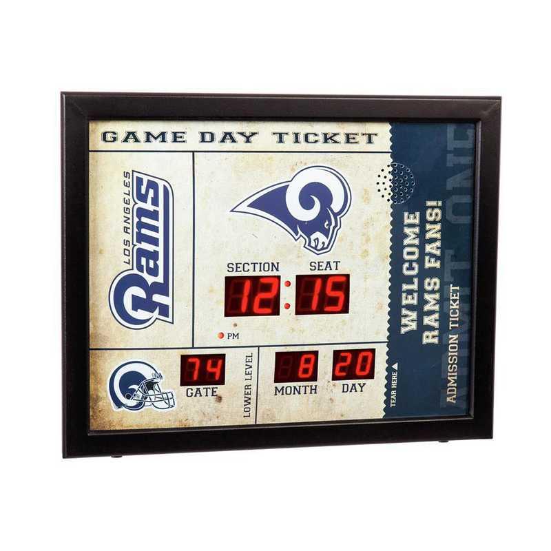 7CL3828B: EG BT SB Wall Clock, LA Rams