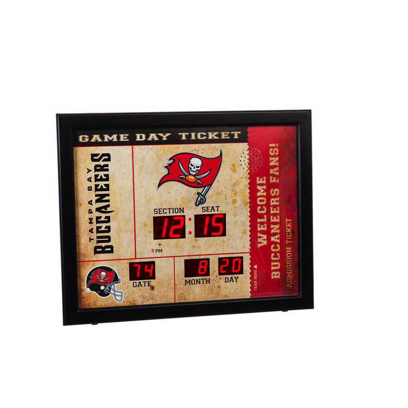7CL3829: EG BT SB Wall Clock, Tampa Bay Buccaneers