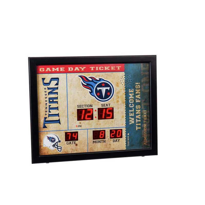 7CL3830: EG BT SB Wall Clock, Tennessee Titans