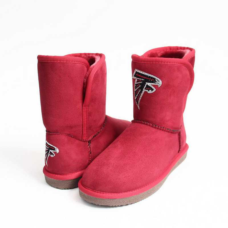 NFL Atlanta Falcons boot with crystal accent logo