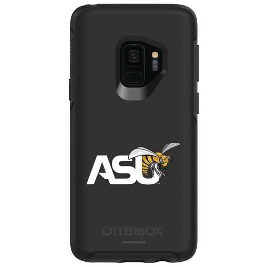 GAL-S9-BK-SYM-ASU-D101: FB Alabama St OB SYMMETRY Case for Galaxy S9