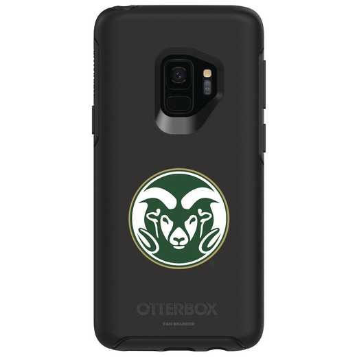 GAL-S9-BK-SYM-CSU-D101: FB Colorado St OB SYMMETRY Case for Galaxy S9
