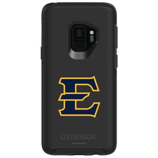 GAL-S9-BK-SYM-ETSU-D101: FB Eatern Tennessee St OB SYMMETRY Case for Galaxy S9