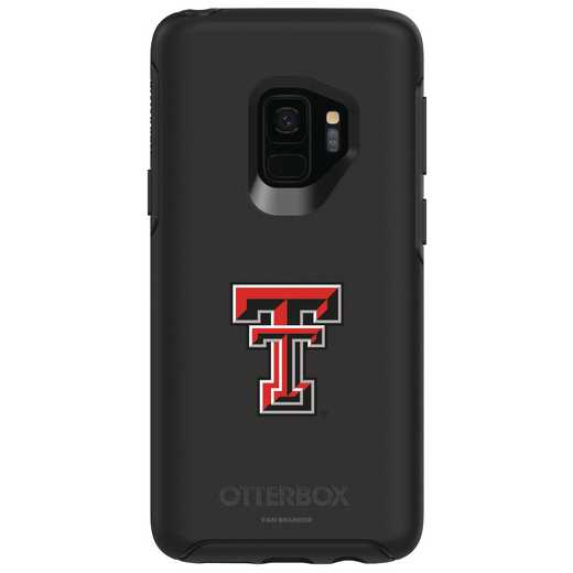 GAL-S9-BK-SYM-TT-D101: FB Texas Tech OB SYMMETRY Case for Galaxy S9