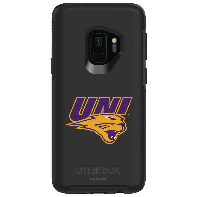 GAL-S9-BK-SYM-UNI-D101: FB Northern Iowa OB SYMMETRY Case for Galaxy S9