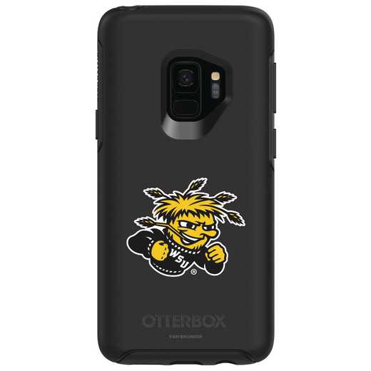 GAL-S9-BK-SYM-WSU-D101: FB Wichita St OB SYMMETRY Case for Galaxy S9