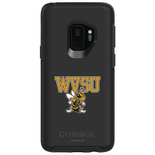 GAL-S9-BK-SYM-WVSU-D101: FB West Virginia St OB SYMMETRY Case for Galaxy S9