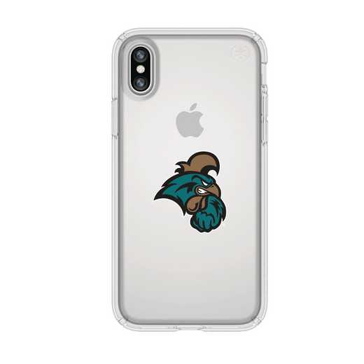 IPH-X-CL-PRE-CCU-D101: FB Coastal Carolina iPhone X Presidio Clear