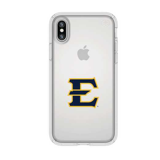 IPH-X-CL-PRE-ETSU-D101: FB Eatern Tennessee St iPhone X Presidio Clear