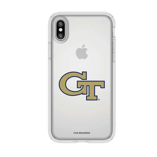 IPH-X-CL-PRE-GT-D101: FB Georgia Tech iPhone X Presidio Clear