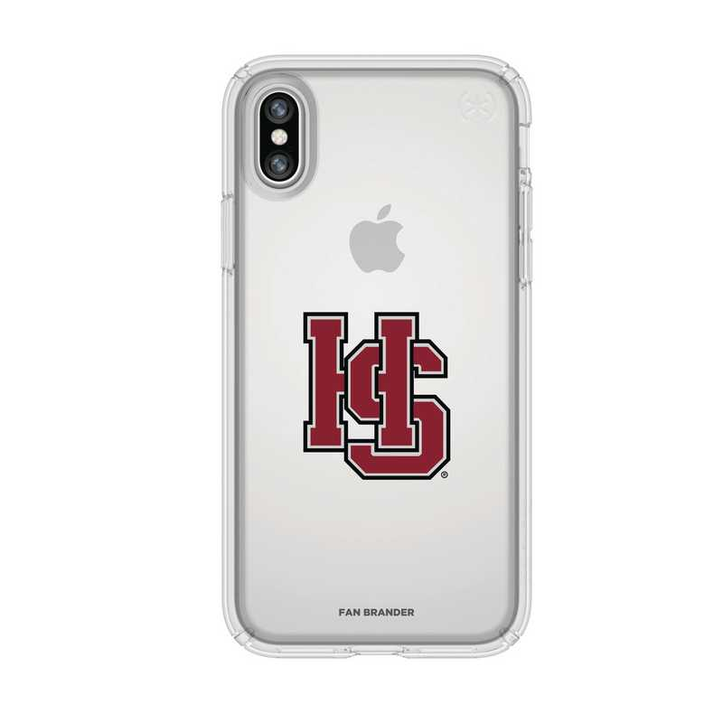 IPH-X-CL-PRE-HSC-D101: FB Hampden Sydney iPhone X Presidio Clear