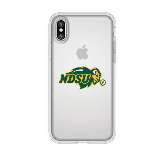 IPH-X-CL-PRE-NDSU-D101: FB North Dakota St iPhone X Presidio Clear