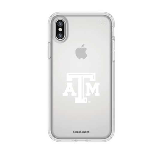 IPH-X-CL-PRE-TAM-D101: FB Texas A&M iPhone X Presidio Clear