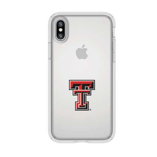 IPH-X-CL-PRE-TT-D101: FB Texas Tech iPhone X Presidio Clear