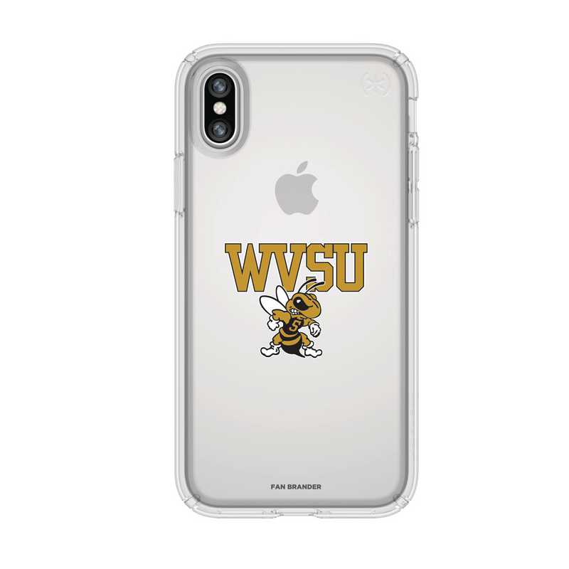 IPH-X-CL-PRE-WVSU-D101: FB West Virginia St iPhone X Presidio Clear