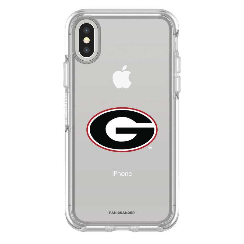 IPH-X-CL-SYM-UGA-D101: FB Georgia iPhone X Symmetry Series Clear Case