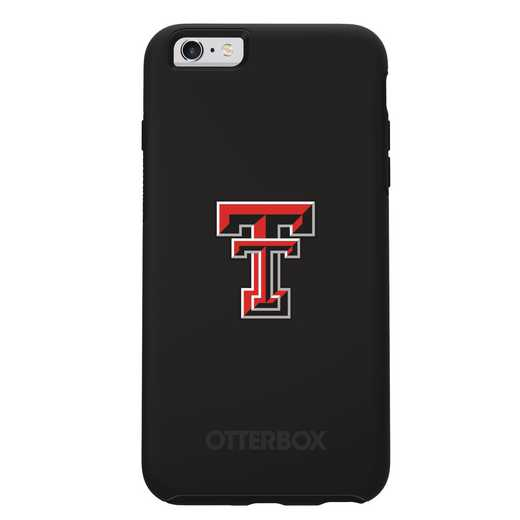 IPH-6SP-BK-SYM-TT-D101: FB Texas Tech OB SYMMETRY IPN 6 PLUS/6S PLUS