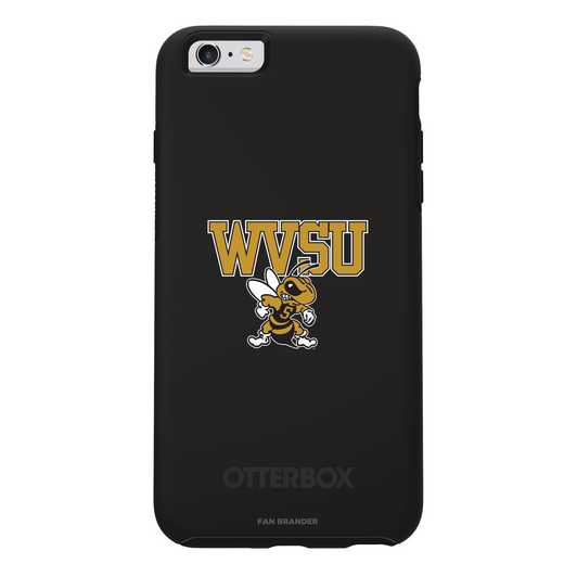IPH-6SP-BK-SYM-WVSU-D101: FB West Virginia St OB SYMMETRY IPN 6 PLUS/6S PLUS