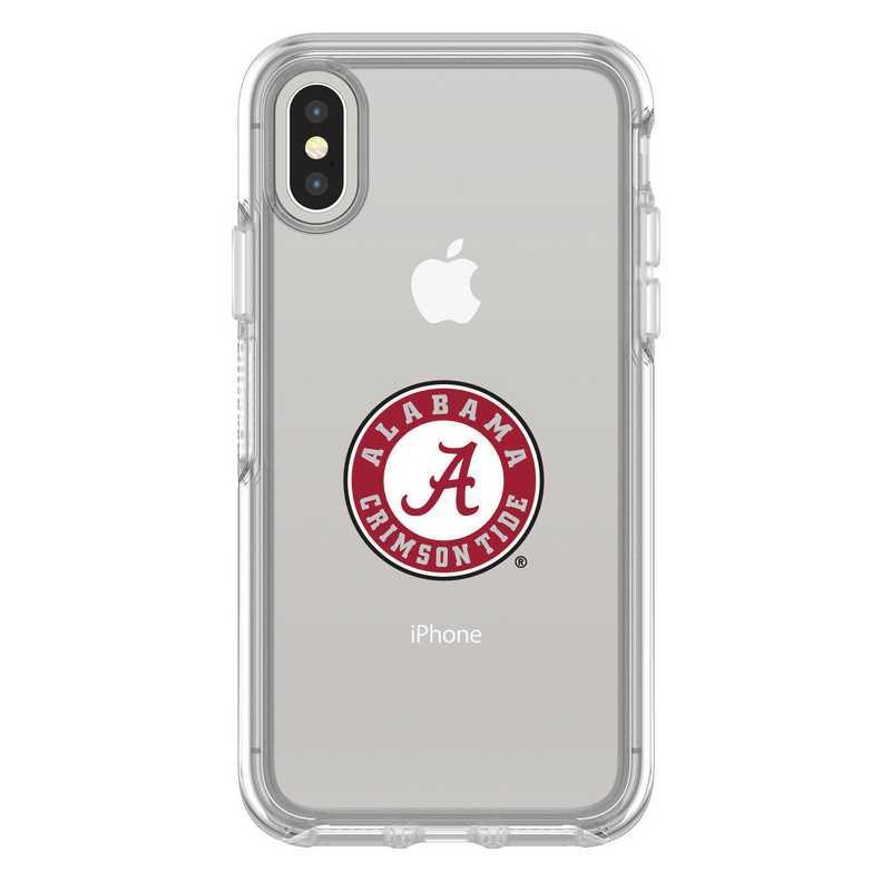 IPH-X-CL-SYM-AL-D101: FB Alabama iPhone X Symmetry Series Clear Case