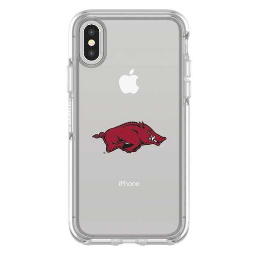 IPH-X-CL-SYM-ARK-D101: FB Arkansas iPhone X Symmetry Series Clear Case