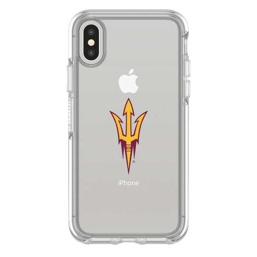 IPH-X-CL-SYM-ARS-D101: FB Arizona St iPhone X Symmetry Series Clear Case