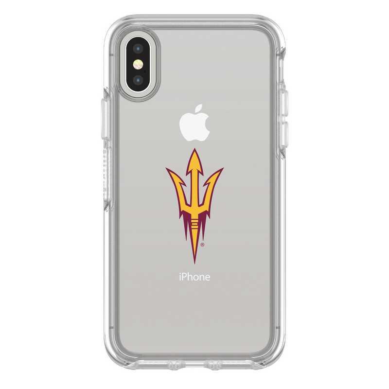 IPH-X-CL-SYM-ARS-D101: FB Arizona St iPhone X Symmetry Series Clear Case