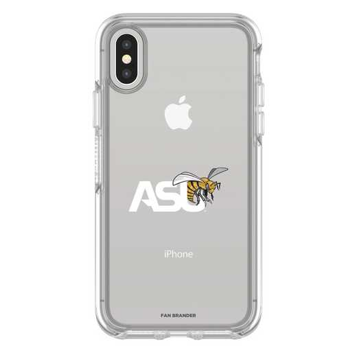 IPH-X-CL-SYM-ASU-D101: FB Alabama St iPhone X Symmetry Series Clear Case