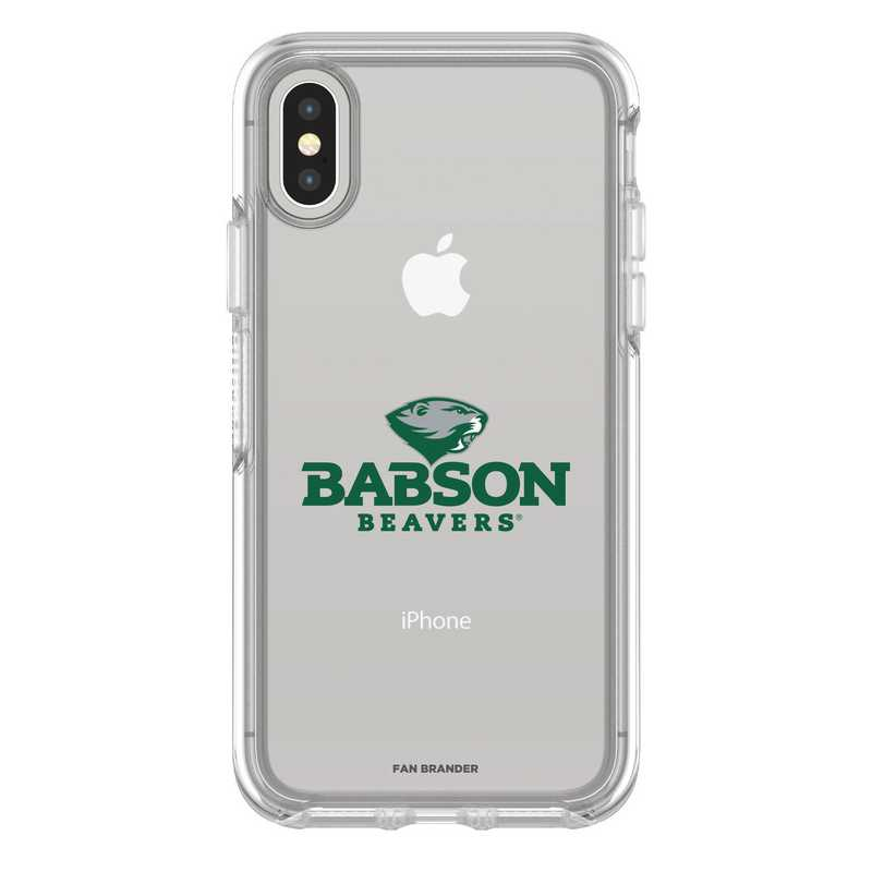 IPH-X-CL-SYM-BAB-D101: FB Babson iPhone X Symmetry Series Clear Case