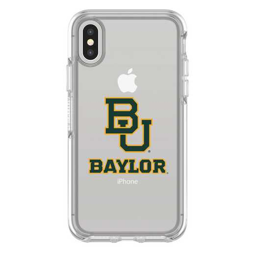 IPH-X-CL-SYM-BAY-D101: FB Baylor iPhone X Symmetry Series Clear Case