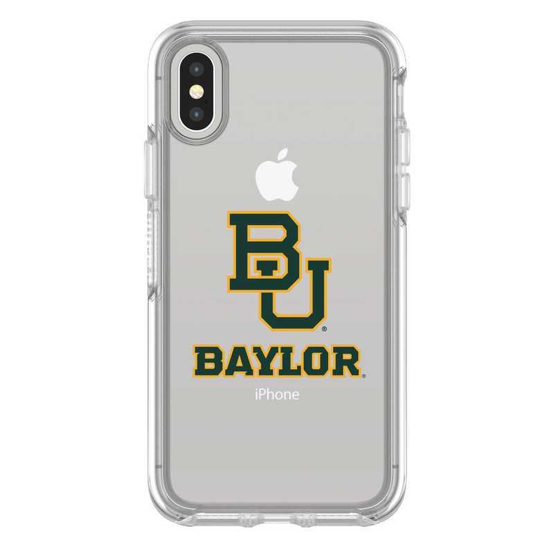 IPH-X-CL-SYM-BAY-D101: FB Baylor iPhone X Symmetry Series Clear Case