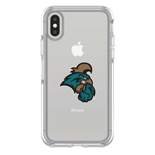 IPH-X-CL-SYM-CCU-D101: FB Coastal Carolina iPhone X Symmetry Series Clear Case