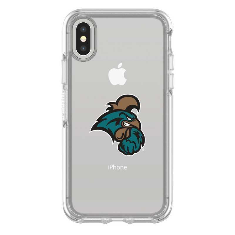 IPH-X-CL-SYM-CCU-D101: FB Coastal Carolina iPhone X Symmetry Series Clear Case