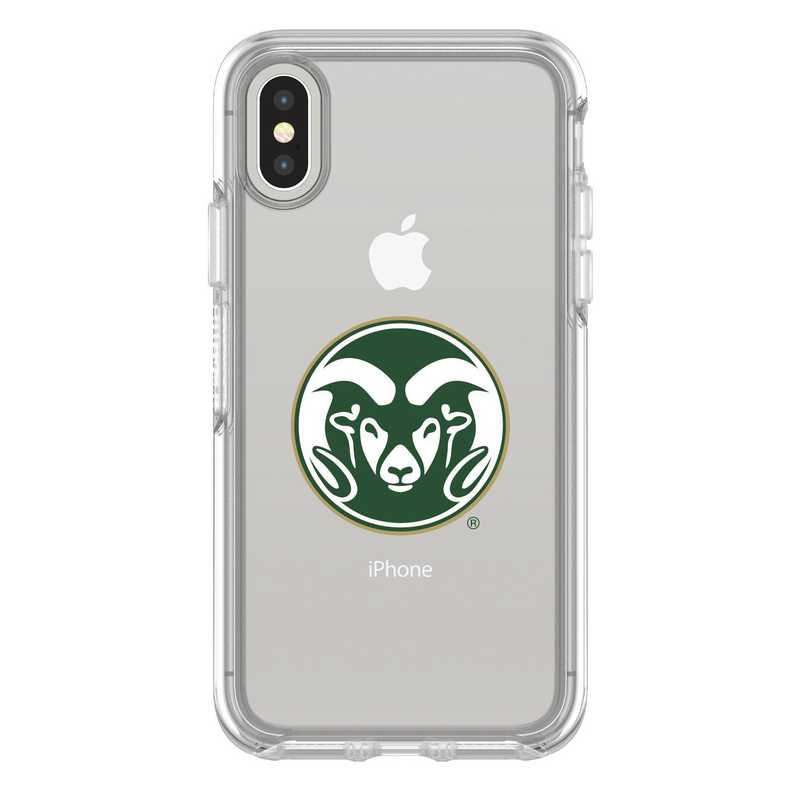 IPH-X-CL-SYM-CSU-D101: FB Colorado St iPhone X Symmetry Series Clear Case