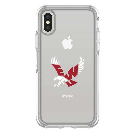 IPH-X-CL-SYM-EWU-D101: FB Eastern Washington iPhone X Symmetry Series Clear Case