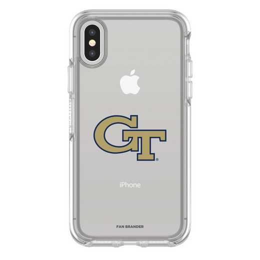 IPH-X-CL-SYM-GT-D101: FB Georgia Tech iPhone X Symmetry Series Clear Case