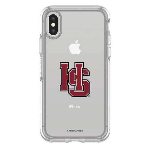 IPH-X-CL-SYM-HSC-D101: FB Hampden Sydney iPhone X Symmetry Series Clear Case