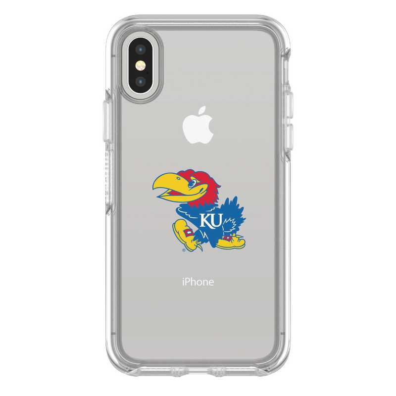 IPH-X-CL-SYM-KS-D101: FB Kansas iPhone X Symmetry Series Clear Case