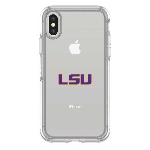 IPH-X-CL-SYM-LSU-D101: FB LSU iPhone X Symmetry Series Clear Case