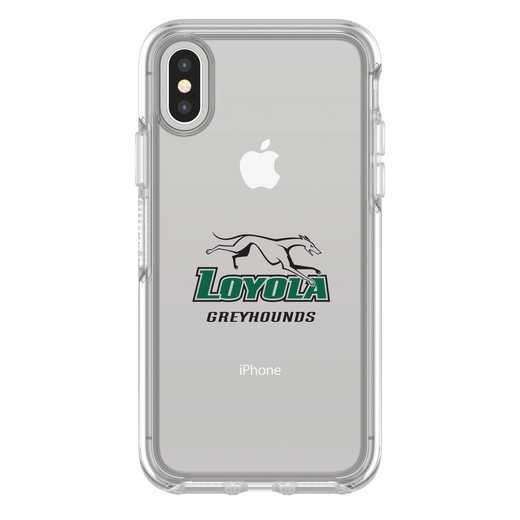 IPH-X-CL-SYM-LUM-D101: FB Loyola Univ Of Maryland iPhone X Symmetry Series Clear Case
