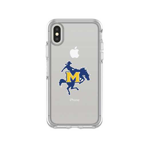IPH-X-CL-SYM-MNS-D101: FB McNeese St iPhone X Symmetry Series Clear Case