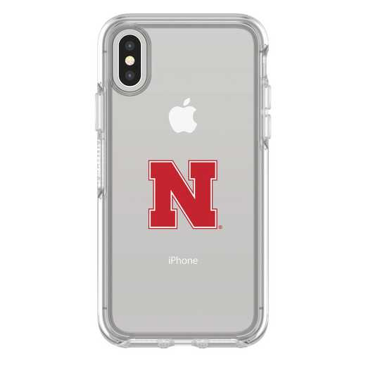IPH-X-CL-SYM-NB-D101: FB Nebraska iPhone X Symmetry Series Clear Case
