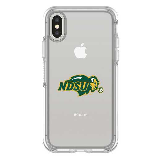 IPH-X-CL-SYM-NDSU-D101: FB North Dakota St iPhone X Symmetry Series Clear Case