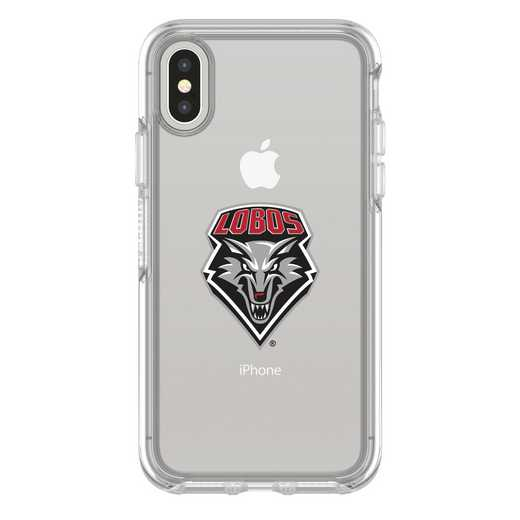 IPH-X-CL-SYM-NEWM-D101: FB New Mexico iPhone X Symmetry Series Clear Case