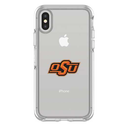 IPH-X-CL-SYM-OKS-D101: FB Oklahoma St iPhone X Symmetry Series Clear Case